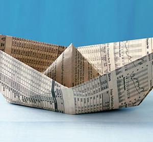 Währungsschock Bild Papierschiff