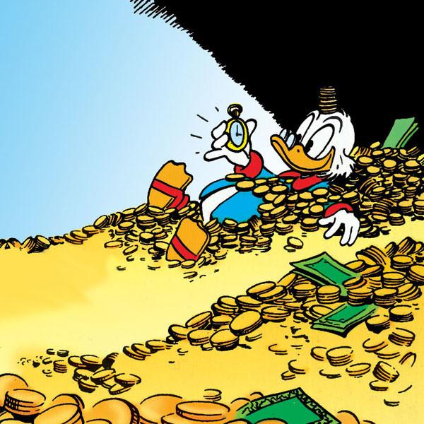 Dagobert Duck Geldbad
